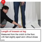 F. Lenght of inseam at leg